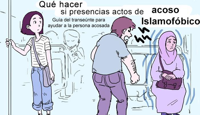 Esta ilustradora ha creado una guía que muestra qué hacer si presencias actos de islamofobia