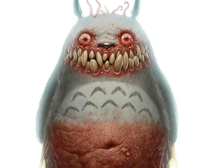 11 De tus personajes favoritos de animación convertidos en monstruos de pesadilla
