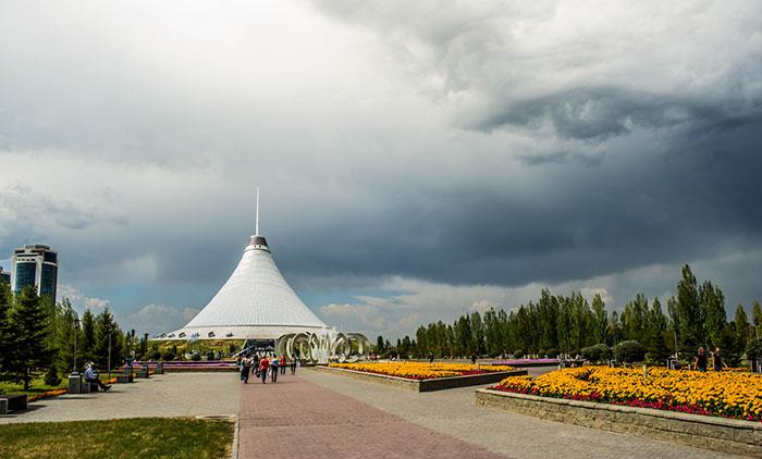Este ojo gigante ha aparecido en el cielo de Kazajistán