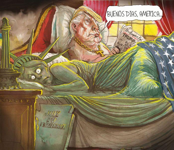 15 Dibujantes de todo el mundo ilustran cómo se sienten con Trump como presidente