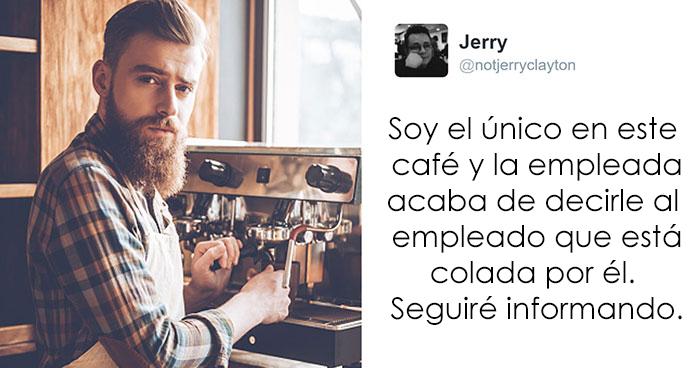 Este cliente tuiteó en secreto la conversación en vivo entre 2 baristas que se declararon su amor