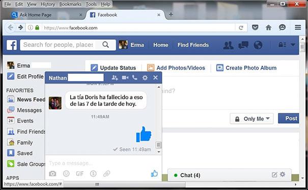 No Sé Si No Entiende Facebook O Le Caía Mal La Tía Doris