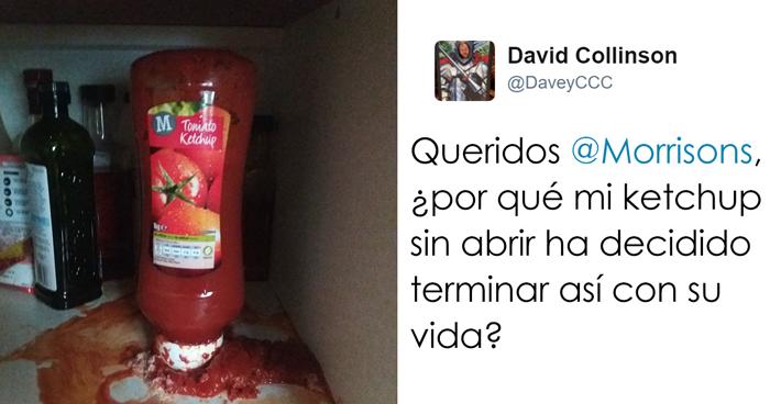 Este hombre se quejó al supermercado de que su ketchup sin abrir explotó, le respondieron y todo fue risas