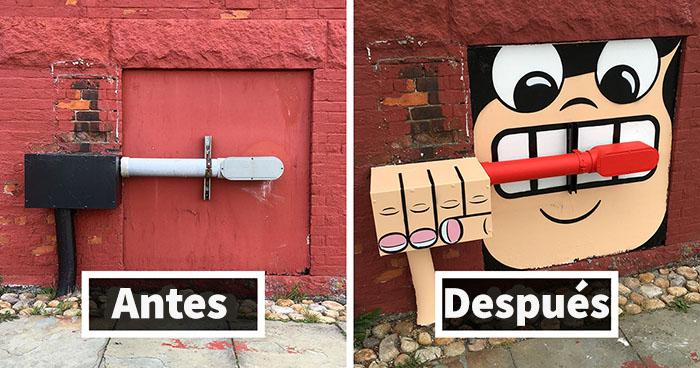 Hay un artista callejero genial suelto por Nueva York, esperamos que no le pillen