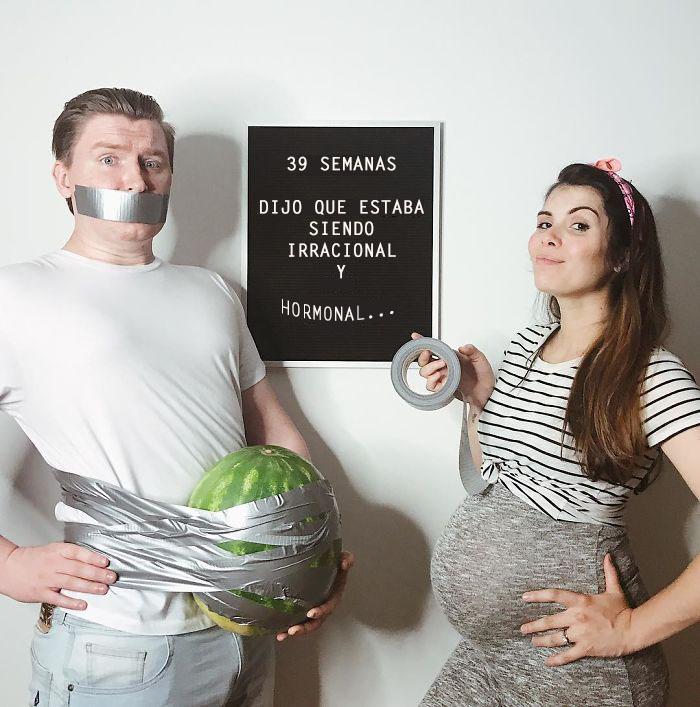 Esta madre creativa muestra las dificultades del embarazo semana a semana en imágenes honestas y divertidas