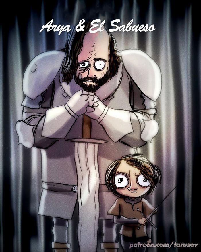 Arya Stark Y El Sabueso