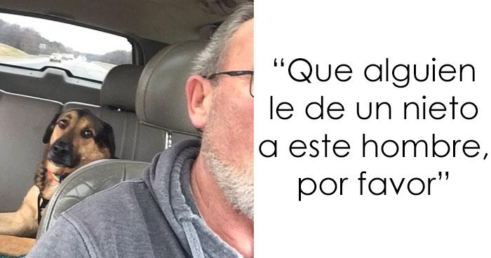 Esta mujer dejó a su perro con su padre, y este le envió los mejores mensajes