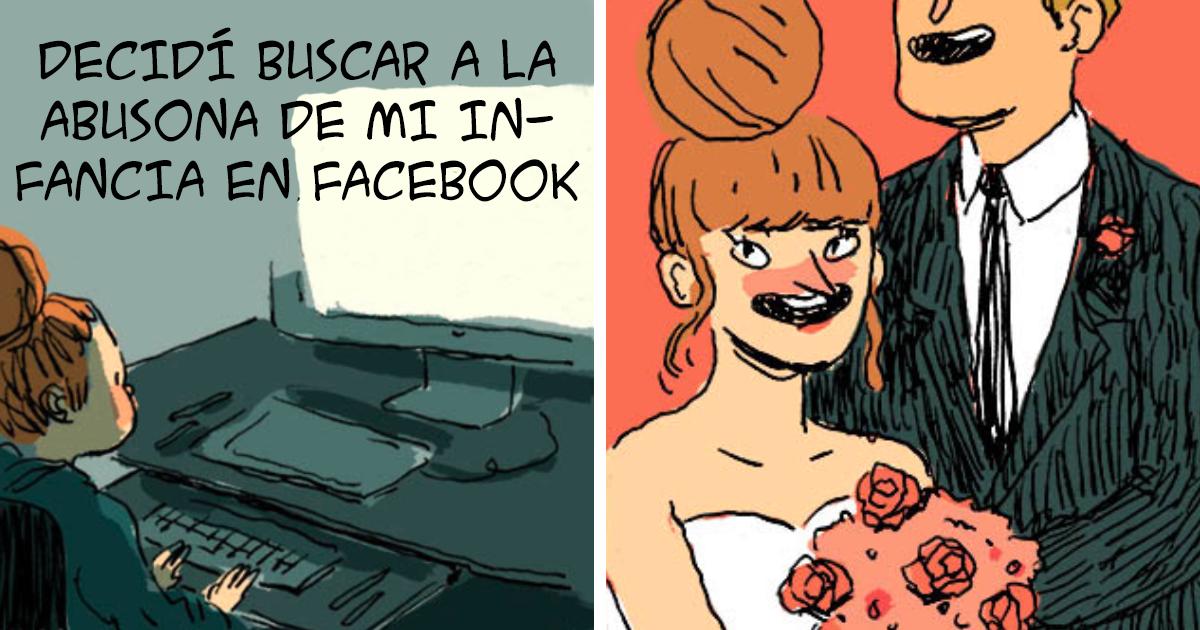 Esta artista buscó en Facebook a la abusona de su infancia, lo que encontró le asombró