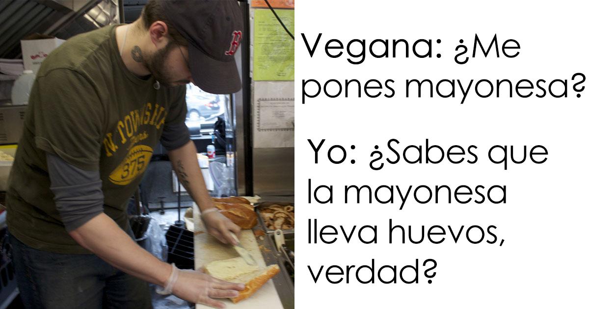 Un empleado de Subway le explicó a una vegana que la mayonesa tenía huevo, y su reacción se ha vuelto viral