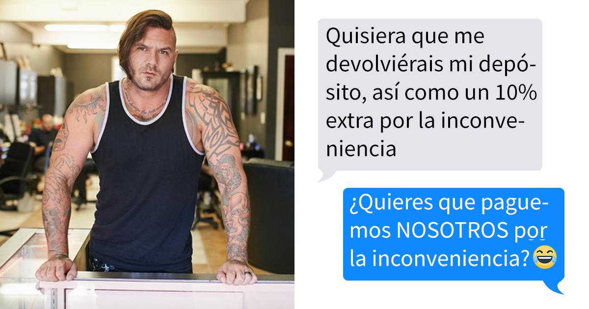Un cliente descubre que el tatuador fue condenado por un delito grave, y exigió que le devolvieran el dinero, pero la tienda le dio una buena respuesta