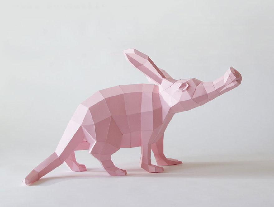 Esculturas Geométricas De Animales Hechas De Papel Bored Panda