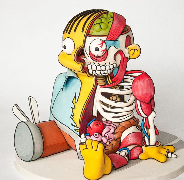 Ralph De Los Simpsons Convertido En Una Tarta Inquietante