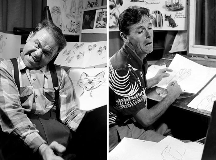Animadores De Disney Estudian Su Reflejo Ante El Espejo Para Dibujar Mejor Sus Personajes