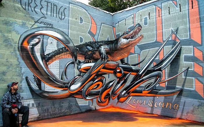 Artista Callejero Portugués Crea Graffittis En 3D Que Parecen Flotar En El Aire
