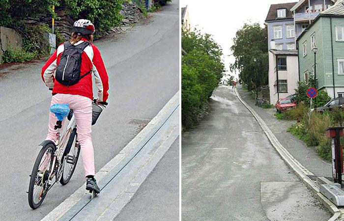El Primer Ascensor Para Bicicletas Del Mundo Está En Noruega