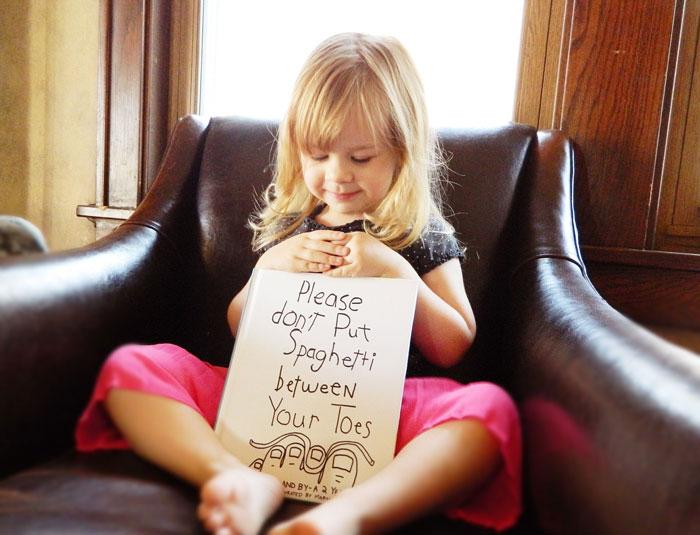 Este papá tan creativo convirtió las palabras de su hija de 3 años en divertidas ilustraciones