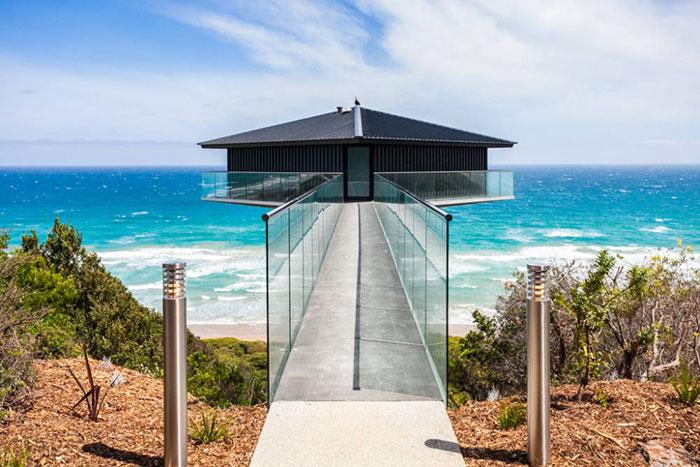 Esta increíble casa en Australia parece flotar sobre el mar