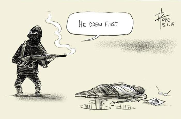 El lápiz es más fuerte que la espada: 28 dibujantes homenajean a las víctimas del atentado en la revista Charlie Hebdo