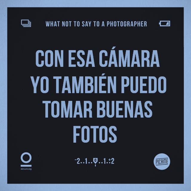 Lo que NUNCA deberías decirle a un fotógrafo