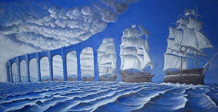 25 Pinturas con alucinantes ilusiones ópticas hechas por Rob Gonsalves