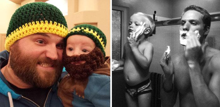 De tal palo, tal astilla: 20 fotos adorables de papás y sus mini-yos