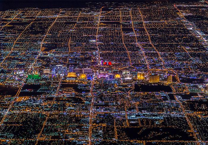 Las Vegas a más de 3000 metros de altura no se parece a nada que hayas visto nunca