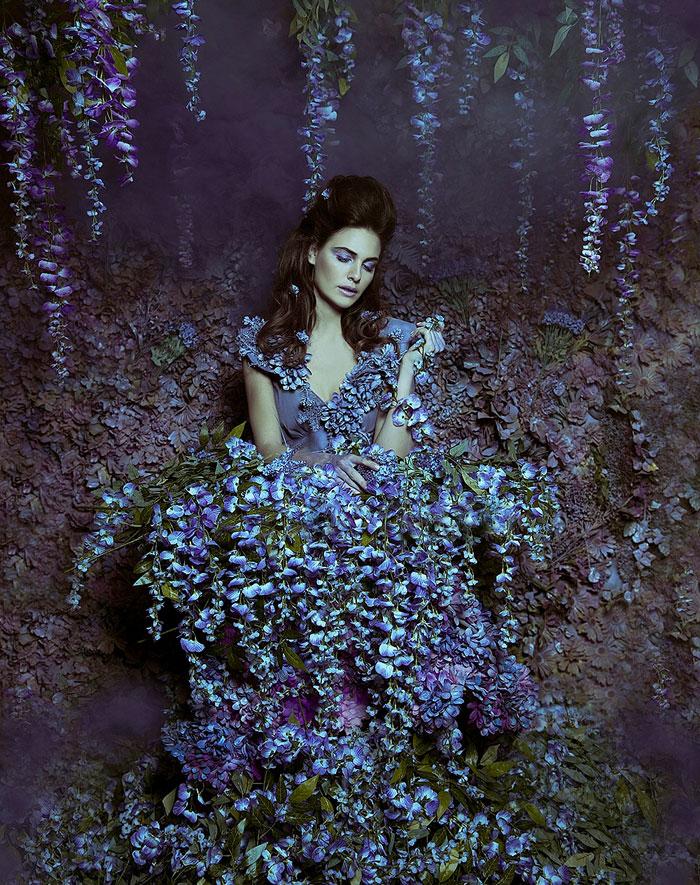 Una fotógrafa canadiense convierte su ático en un florido escenario de cuento de hadas