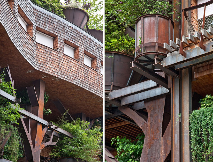Este edificio urbano con 150 árboles protege a sus residentes del ruido y la polución