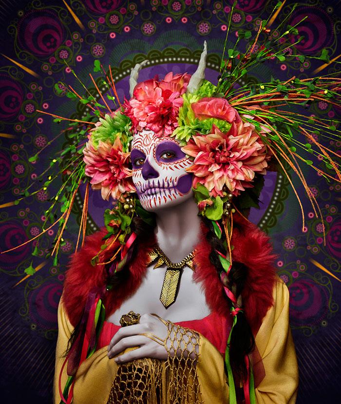 Las Muertas: Bellezas mortales posan en un colorido tributo al Día de los Muertos