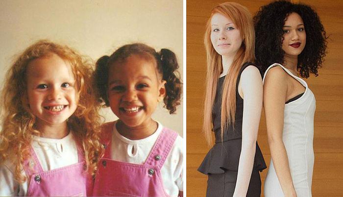 Estas hermanas gemelas tienen un aspecto totalmente distinto