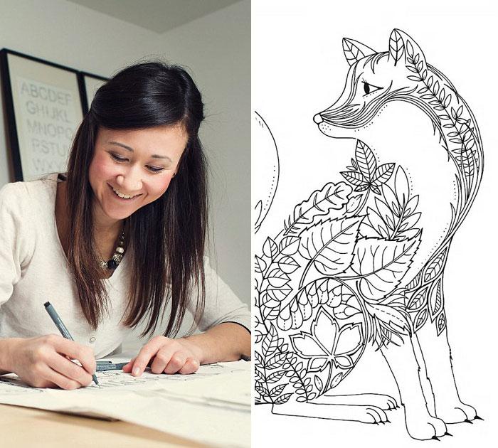 Esta artista ha creado un libro de colorear para adultos que ha ...