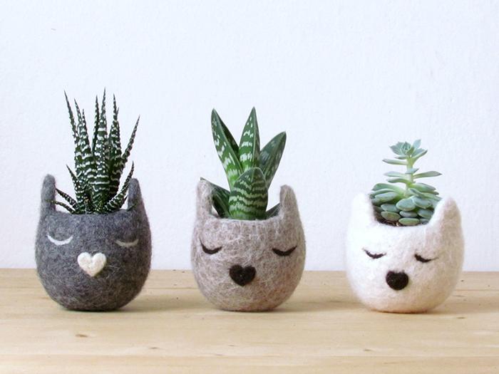 """Cómo convertir las macetas de flores en adorables criaturas con """"Animal Planters"""""""