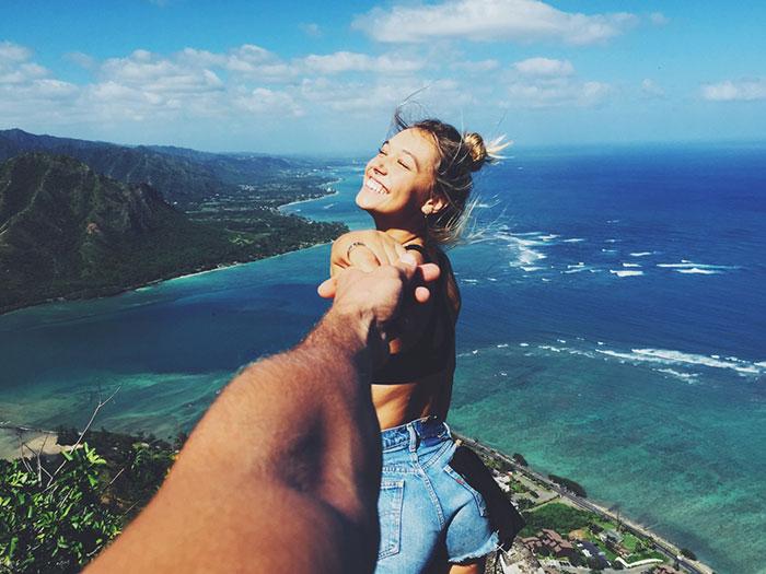 Esta pareja viaja por el mundo y nos muestra su relación de ensueño