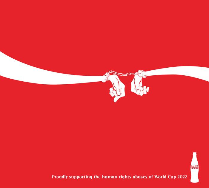 Crean anti-anuncios para instar a los patrocinadores a retirarse del Mundial de Qatar 2022
