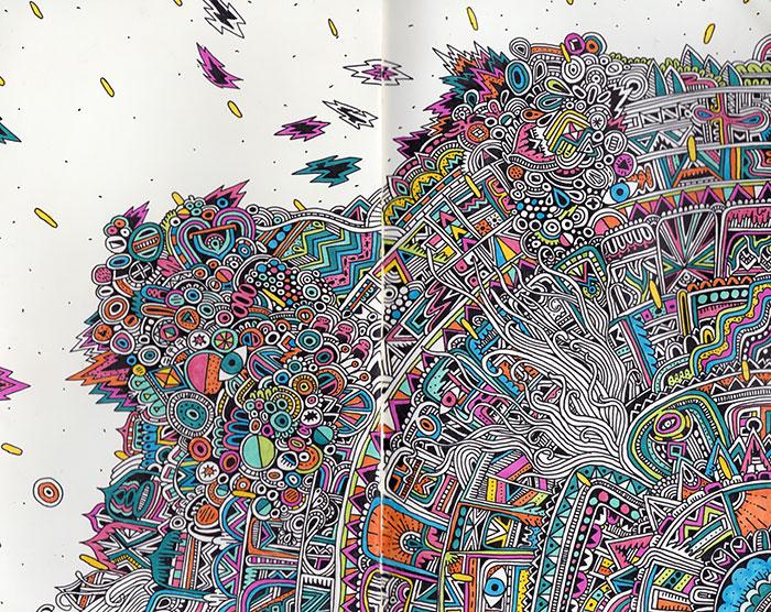 Esta artista muestra los dibujos extremadamente detallados de su cuaderno