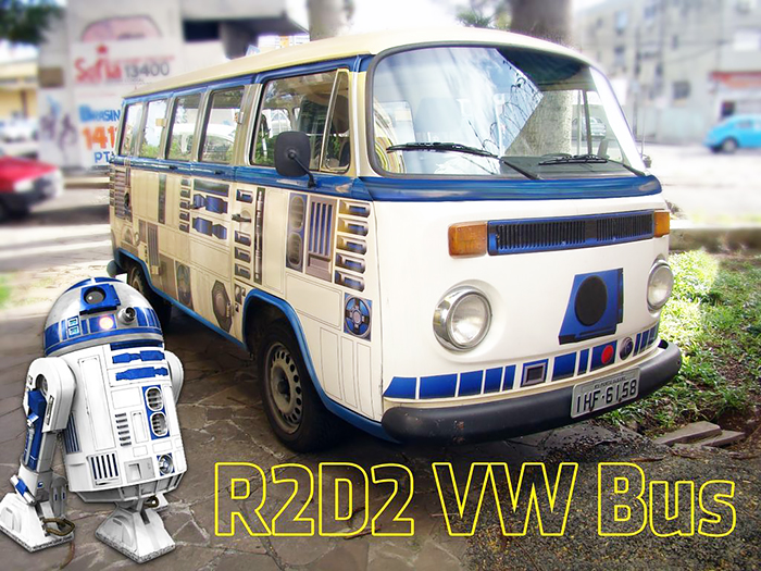 Cómo convertir una vieja furgoneta en R2-D2 de La Guerra de las Galaxias