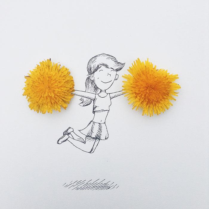 Utilizo objetos cotidianos para crear divertidas ilustraciones