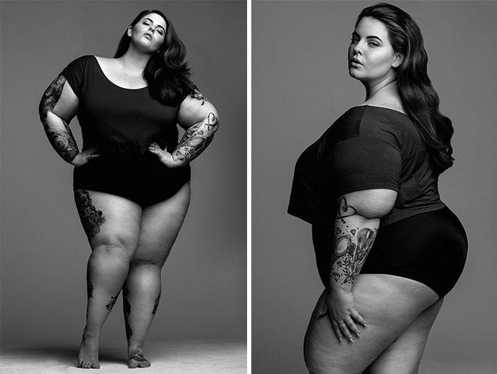 Esta modelo de tallas grandes desafía los estándares de belleza en su primera sesión para una agencia