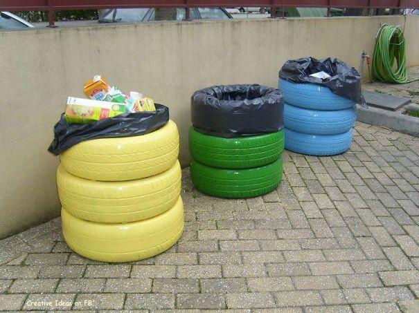 15 Ideas Ingeniosas Para Reutilizar Y Reciclar Los Neumaticos Viejos - Ideas-de-reciclaje