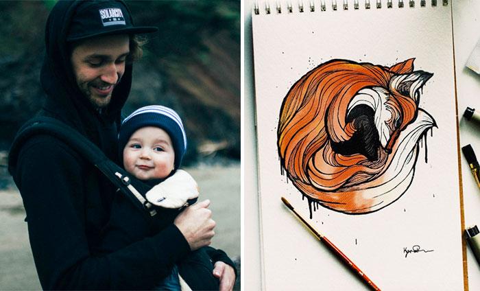 Cada día dibujo una letra animal para enseñar el abecedario a mi hijo