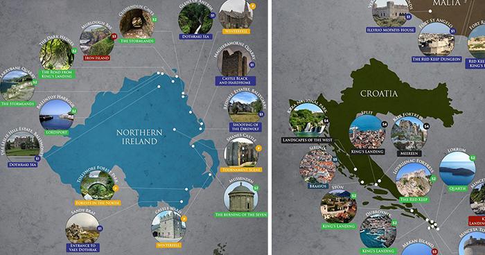 Las localizaciones donde se ha rodado Juego de Tronos en la vida real