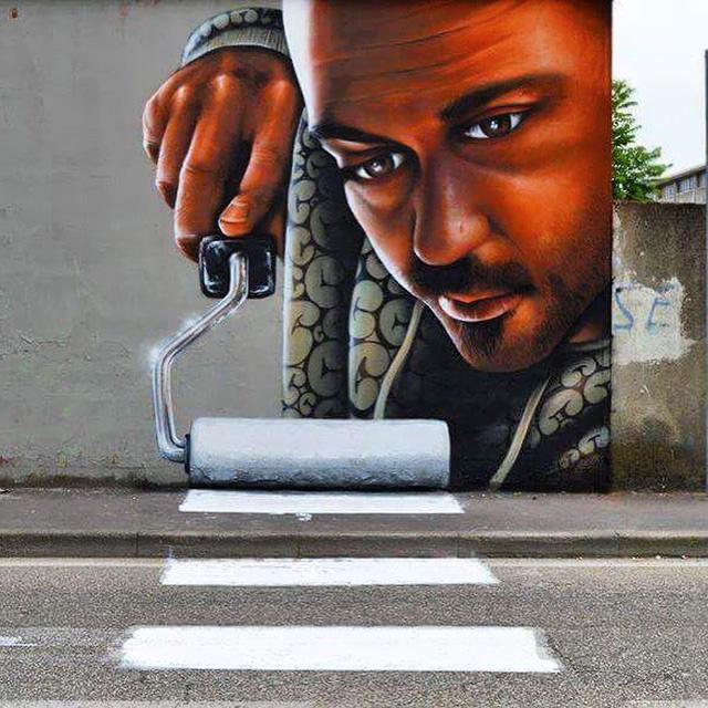 Esta Ingeniosa Obra De Arte Urbano En Italia Convierte Un Paso De