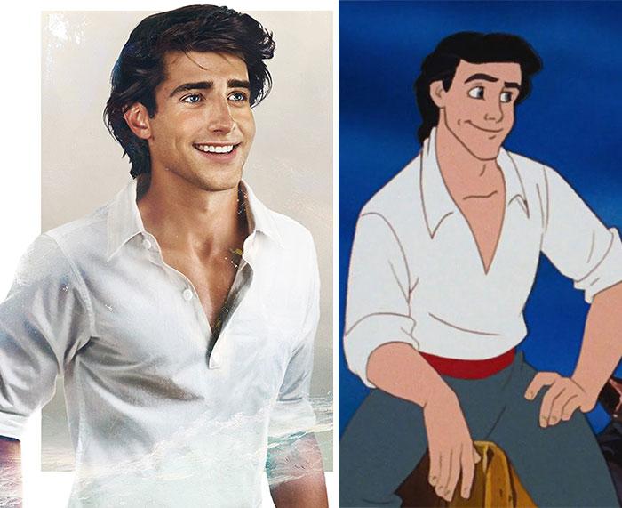 Este es el aspecto que tendrían los príncipes de Disney en la vida real