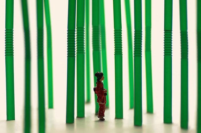 Este artista japonés crea divertidos dioramas en miniatura cada día desde hace 5 años