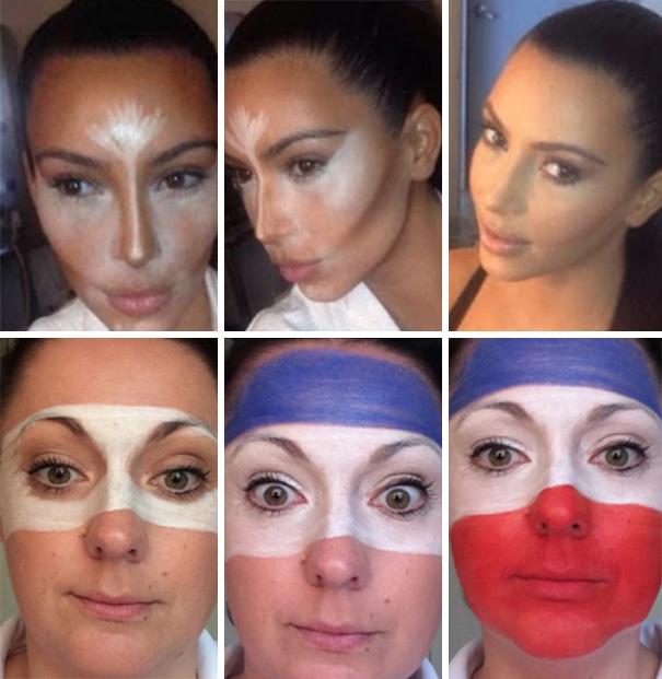 Celeste Barber y Kim Kardashian 2