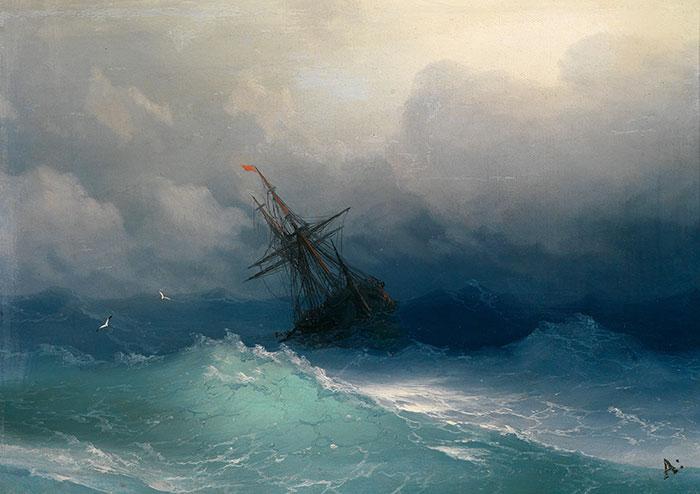 El poder del mar reflejado en las hipnóticas olas translúcidas de estas pinturas rusas del siglo XIX