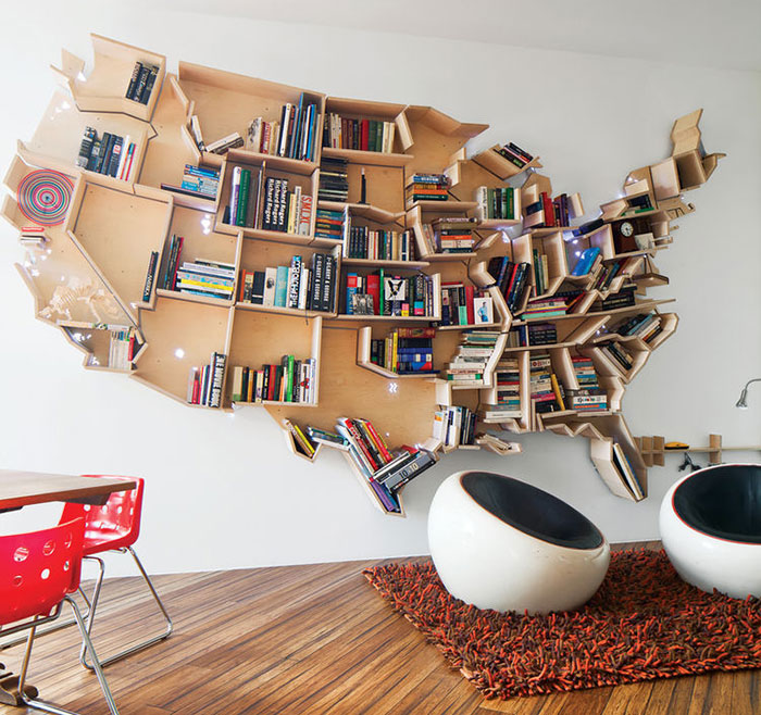 20 Estanterías de lo más creativas para tus libros