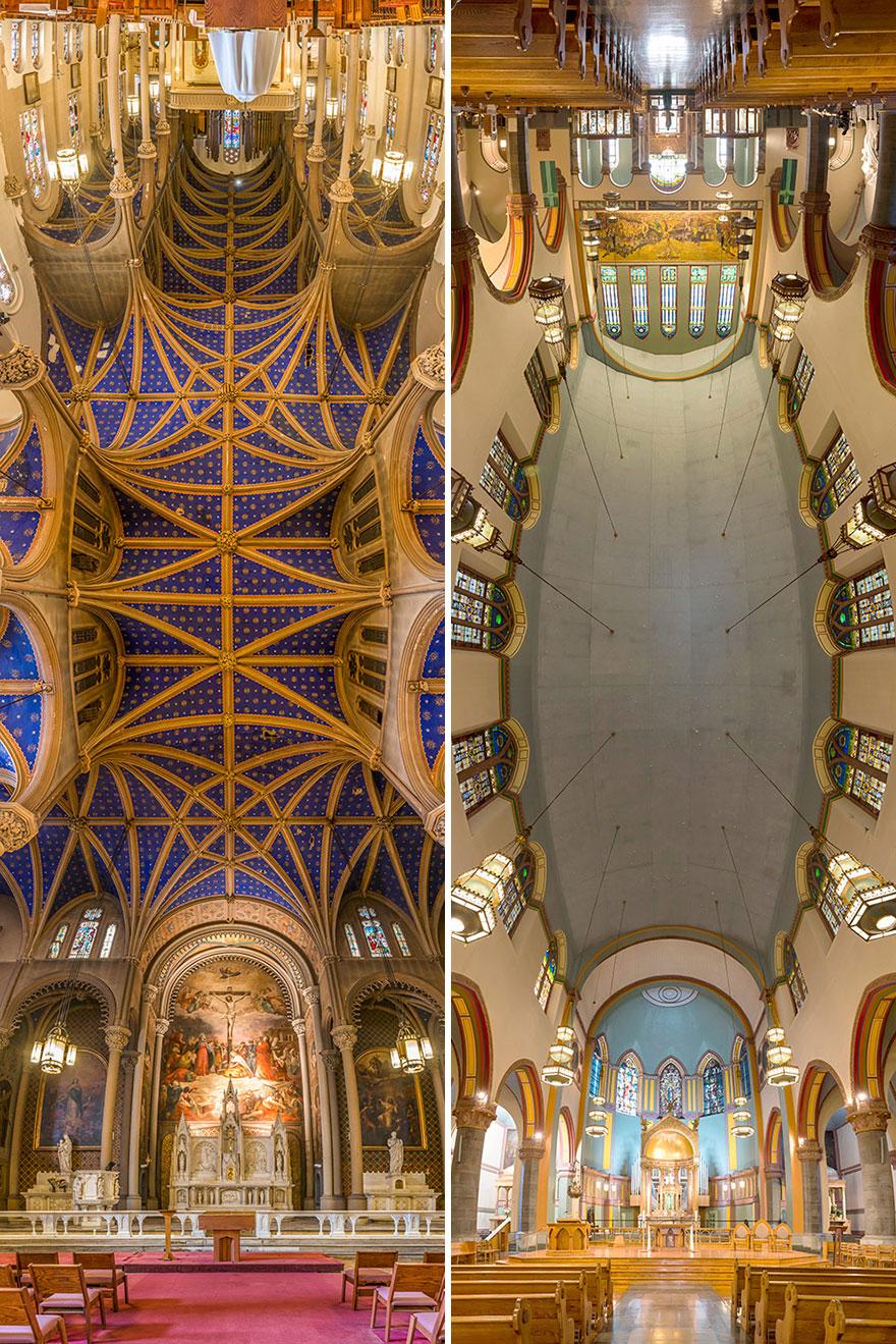 Panorámicas verticales de las iglesias de Nueva York inspiradas por la visita del Papa, por Richard Silver