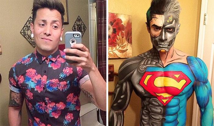 Este maquillador se transforma en distintos superhéroes usando solo maquillaje