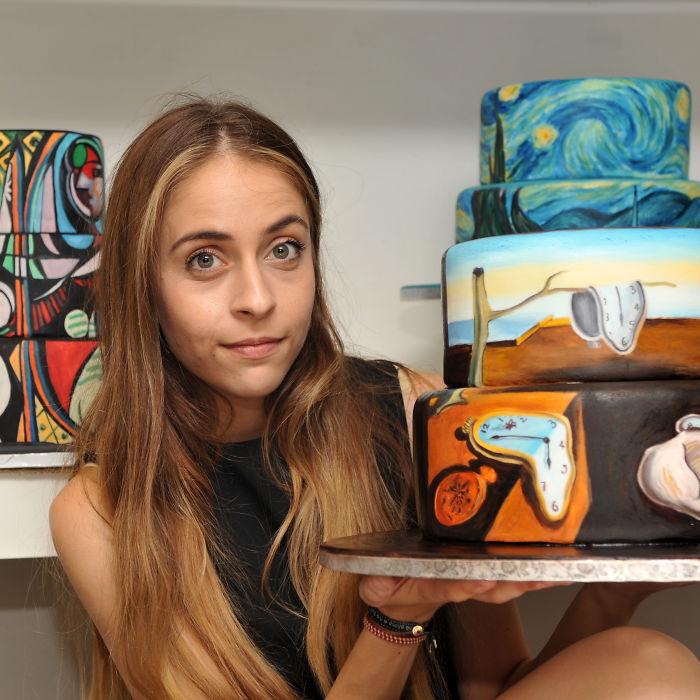 Me gusta recrear cuadros famosos en tartas